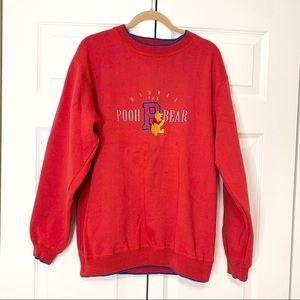 Winnie The Pooh Embroidered 90s Vintage Crewneck L